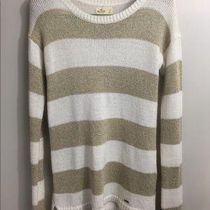 Hollis yet striped knit tunic sweater. Small